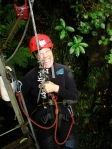 Me as I rappel (they call it abseiling in NZ) 12 stories into a cave. I think I'm a bit hysterical at this point.