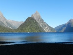 Mitre Peak in Milford Sound.